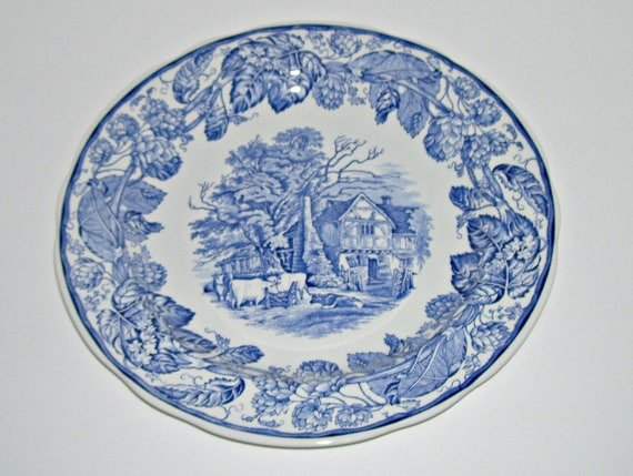 & Spode Blue Room Collection Rural Scenes Cow Plate